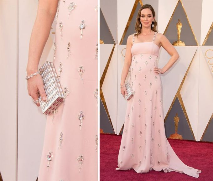 Emily Blunt Oscars 2016 best dress Prada