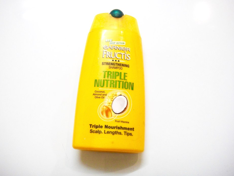 Garnier Fructis Triple Nutrition Strengthening Shampoo Review dry damaged hair