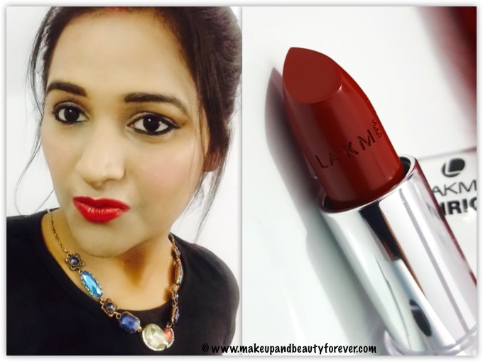Lakme Enrich Satin Lipstick Red R 352 Review Swatches FOTD Astha mbf Lips Red Lipstick
