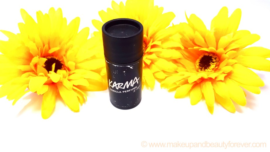 Lush Karma Gorilla Solid Perfume Review Indian Makeup and Beauty Blog