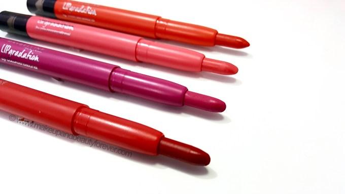Maybelline Lip Gradation Athiya Shetty Fuchsia 63 Orange 230 Red 800 Pink 2167 Mauve 350 Red 801 Pink 2168 Coral 389