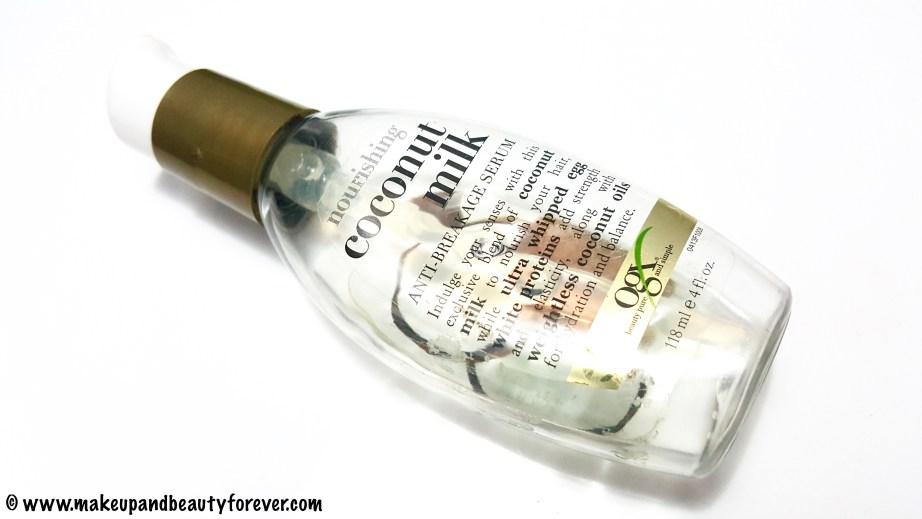 Organix Nourishing Coconut Milk Anti Breakage Serum Review Beauty Blog