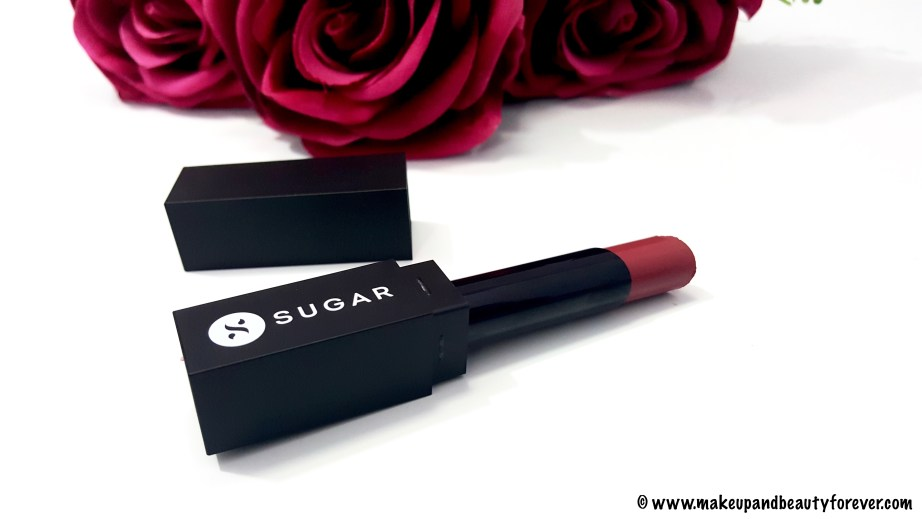 Sugar Cosmetics Its A Pout Time Vivid Lipstick 02 Breaking Bare Review Swatches FOTD