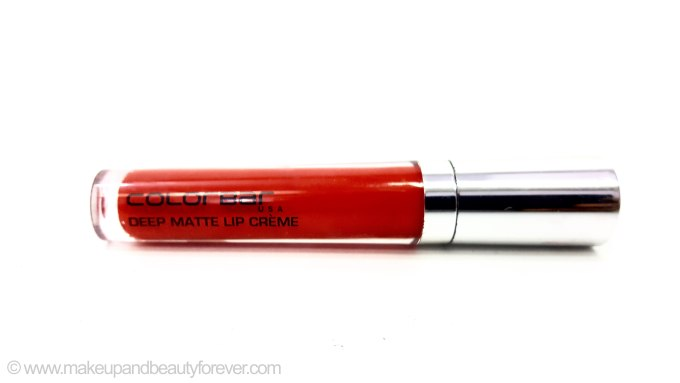 Colorbar Deep Matte Lip Crème Deep Red 001 Review price buy India