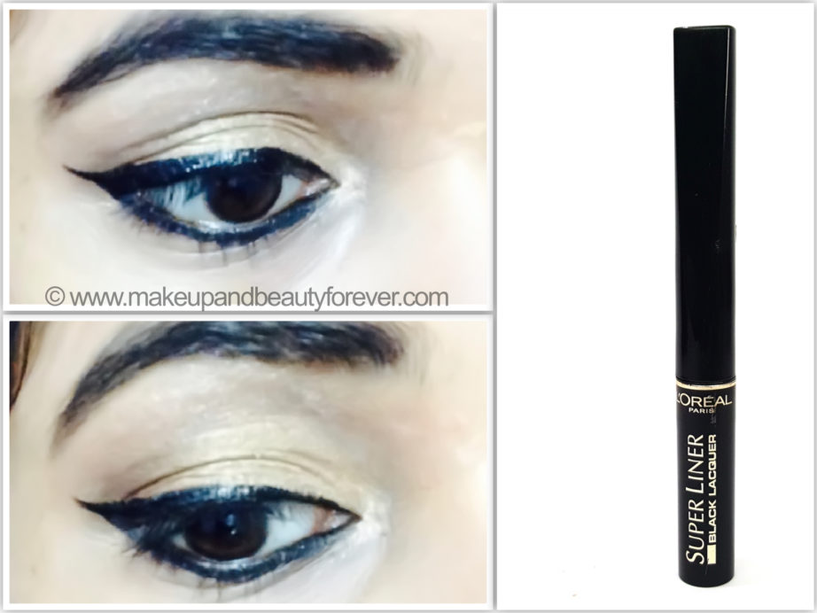 L'Oreal Super Liner Black Lacquer Black Vinyl Review on eye