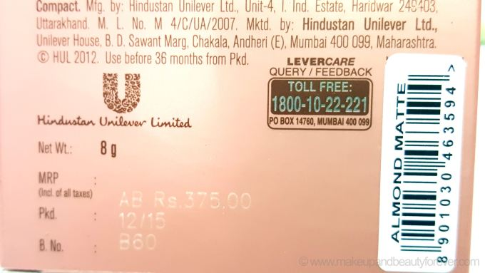 Lakme 9 to 5 Flawless Matte Complexion Compact Review Shades Uni Lever