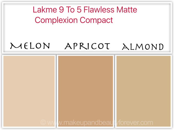 Lakme 9 to 5 Flawless Matte Complexion Compact Review Shades