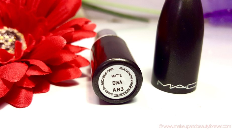 MAC Diva Lipstick Shade no Review Photos Swatches