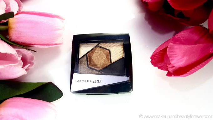 Maybelline Color Sensational Diamonds EyeShadow Palette Topaz Gold Review Swatches USA