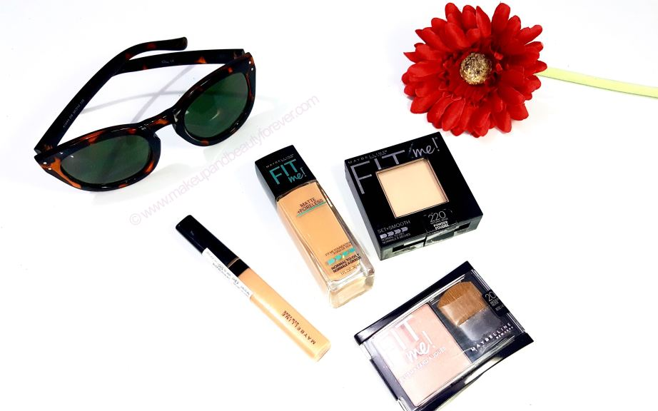 Maybelline FIT me Range Matte + Poreless Foundation Pressed Powder Concealer Blush Preview Shades Price Photos Buy Online India