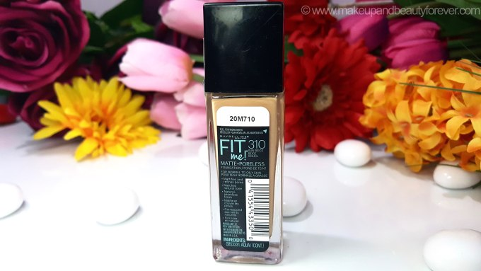 Maybelline Fit Me Matte Poreless Foundation Review Shades Swatches Ingredients