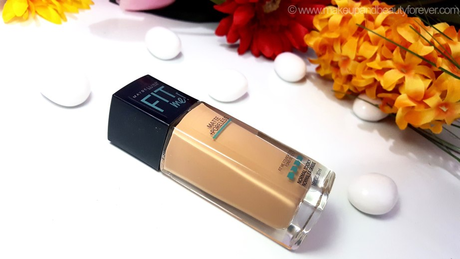 Maybelline Fit Me Matte Poreless Foundation Review Shades Swatches US