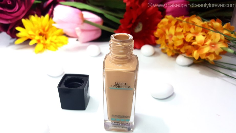 Maybelline Fit Me Matte Poreless Foundation Review Shades Swatches dusky skin tone