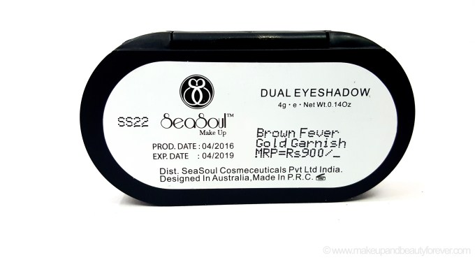 SeaSoul Makeup HD Eyeshadow Palette Review Swatches