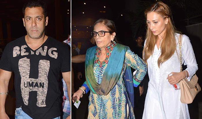 salman khan mother salma khan with iulia vantur