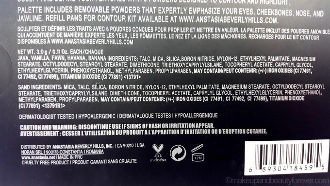 Anastasia Beverly Hills Contour Kit Light Medium Review Ingredients