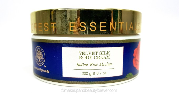 Forest Essentials Velvet Silk Body Cream Indian Rose Absolute Review MBF Blog
