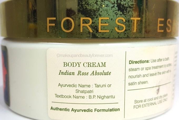 Forest Essentials Velvet Silk Body Cream Indian Rose Absolute Review taruni shatpatri