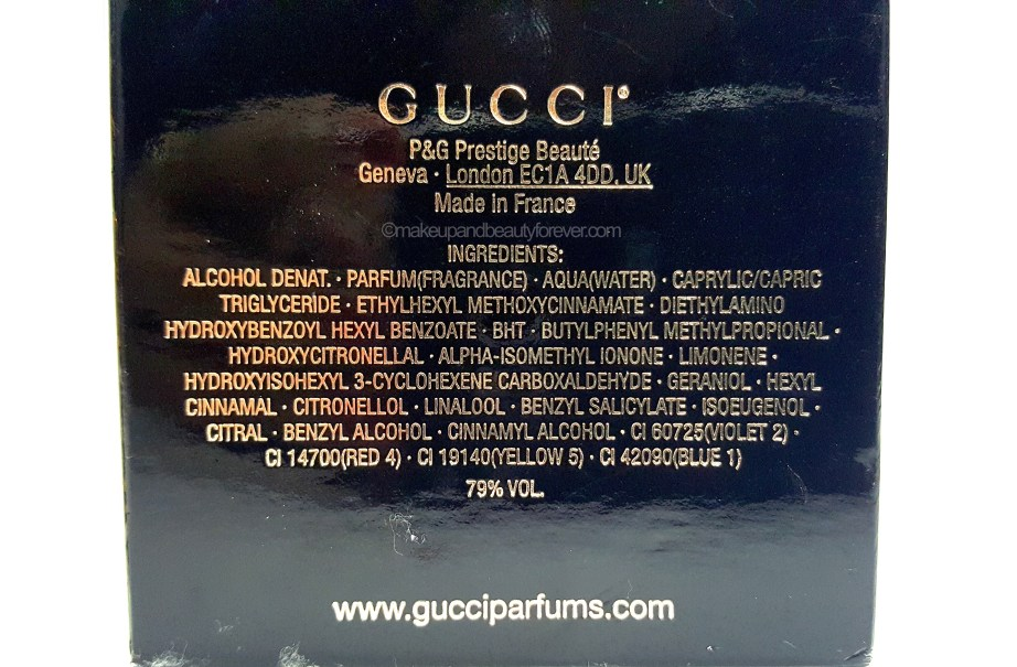 Gucci Guilty Intense EDP Perfume Review ingredients