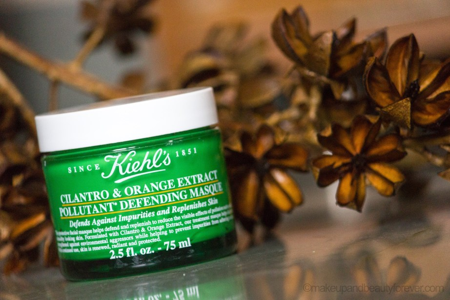 Kiehl's Cilantro & Orange Extract Pollutant Defending Masque Review
