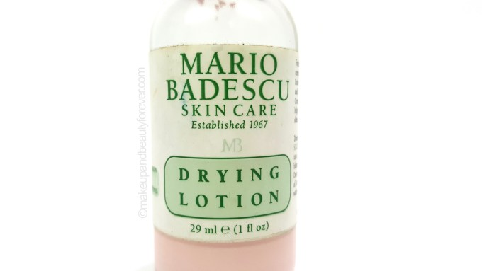Mario Badescu Drying Lotion review details for acne