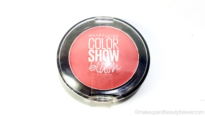 Maybelline Color Show Blush Fresh Coral Review Swatches MBF Blog