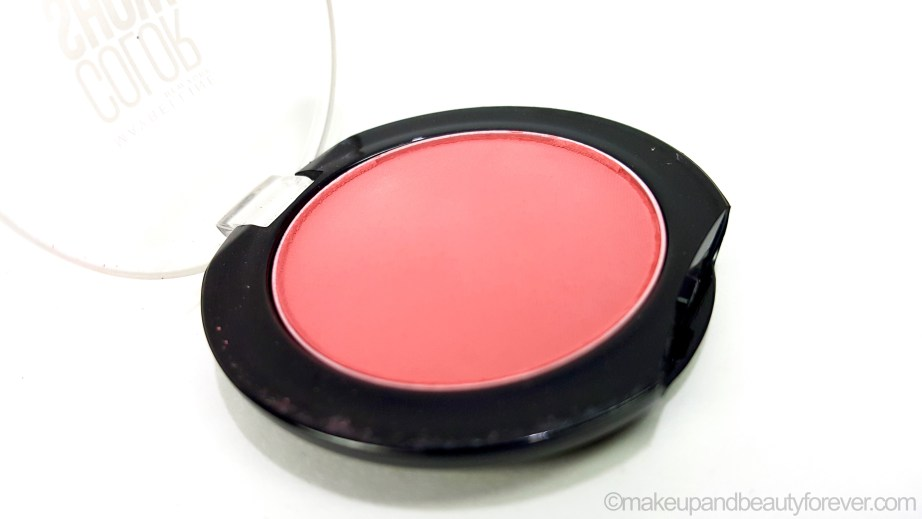 Maybelline Color Show Blush Fresh Coral Review Swatches beauty blog