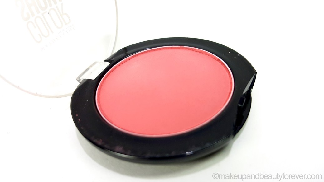 54dcc419b19 Maybelline Color Show Blush Fresh Coral Review Swatches beauty blog