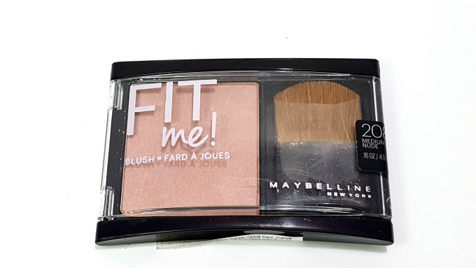 Maybelline Fit Me Blush Medium Nude 208 Review Swatch