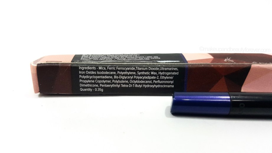 SUGAR Twist And Shout Fadeproof Kajal 02 Still Got The Blues Review ingredients
