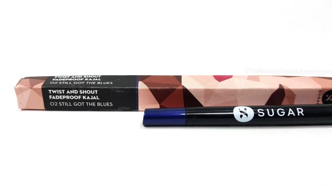 SUGAR Twist And Shout Fadeproof Kajal 02 Still Got The Blues Review mbf beauty blog