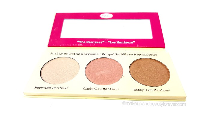 theBalm Manizer Sisters Mary Cindy Betty Lou Manizer Review