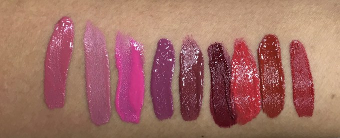 All Chambor Liquid Lipstick swatch Rosemantic 401 Effortless Pink 402 Diva 403 Fall in Rose 404 Trendy Mauve 405 Nocturne 406 Fiery Red 431 Red Haute 432 Desire 433 mbf