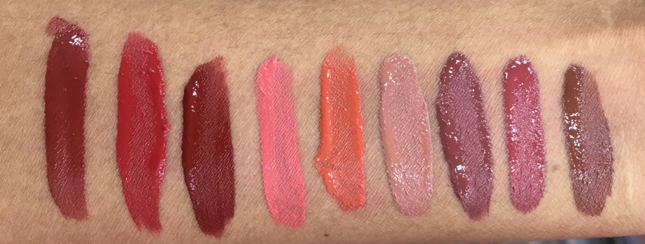 All Chambor Liquid Lipsticks swatches Retro Rouge 434 Oh My Rouge 435 Savage 436 Rouge Grenadine 461 Orangerie 462 Brune Jungle 481 Coffee Date 482 Rose Boudoir 483 Truffle 484