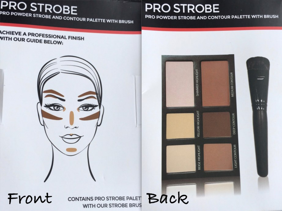 Freedom Pro Strobe Highlight and Contour Palette With Brush Review Swatches front back