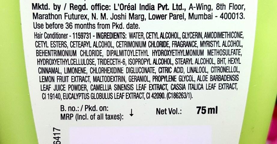 Garnier Ultra Blends 5 Precious Herbs Conditioner Review ingredients
