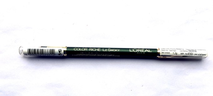 L'Oreal Color Riche Le Smoky Pencil Eyeliner Antique Green 209 Review USA India