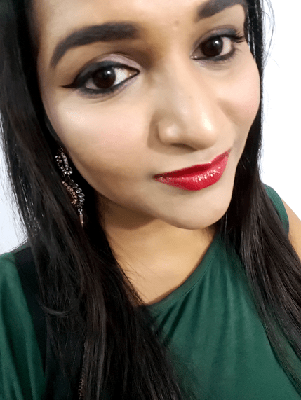 L'Oreal Infallible Mega Gloss 106 Alerte Rouge Review Swatches Astha mbf