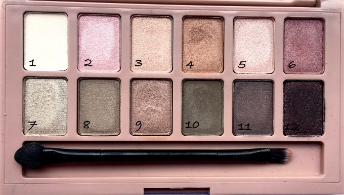 Maybelline The Blushed Nudes Palette Review Swatches Make up
