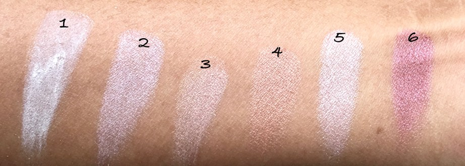 Maybelline The Blushed Nudes Palette Review Swatches Makeup shades 1 to 6