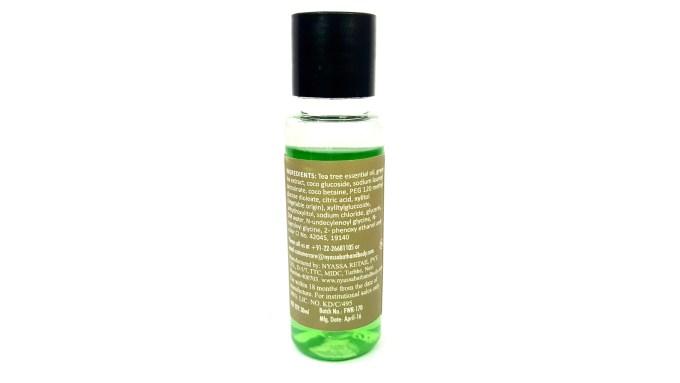 Nyassa Tea Tree Oil Face Wash Review back side