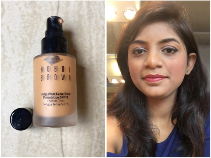 Bobbi Brown Long Wear Even Finish Foundation Spf 15 Review Swatch makeup look