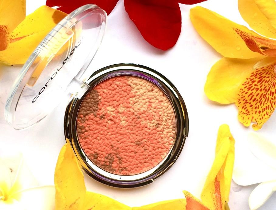 Colorbar Luminous Rouge Blush Luminous Coral Review Swatches focus 2