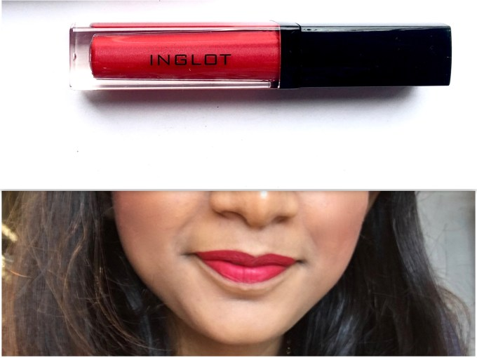 Inglot HD Lip Tint Matte 12 Review Swatches on lips