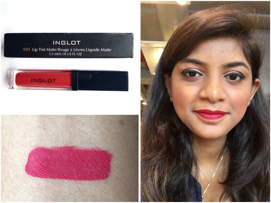 Inglot HD Lip Tint Matte 12 Review liquid lipstick Swatches MBF