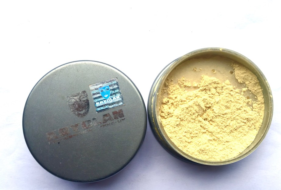 Kryolan Translucent Loose Powder Review Swatches mbf blog
