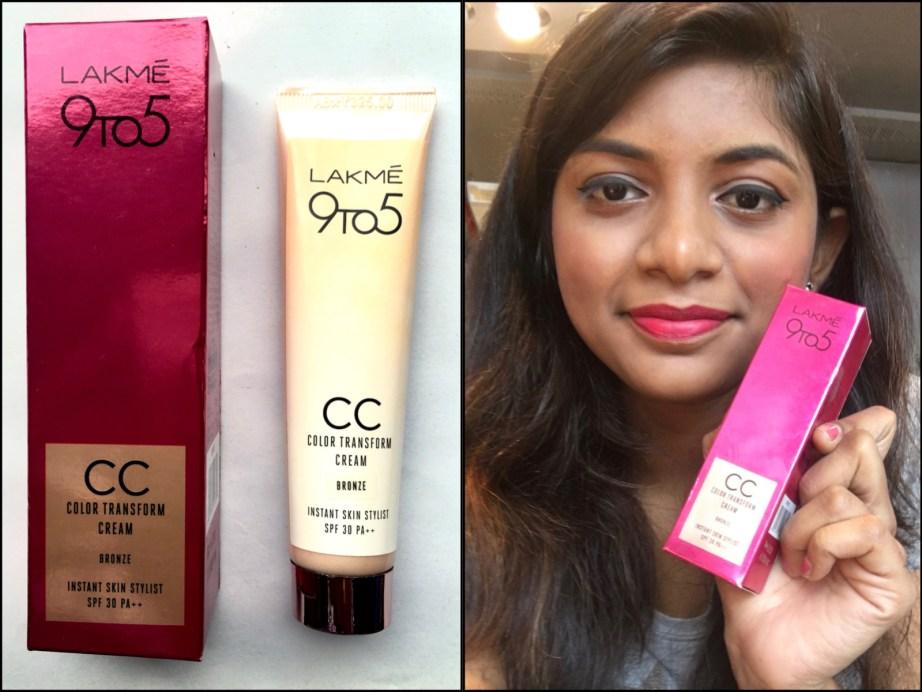 Lakme 9 To 5 Color Transform CC Cream Review Swatches