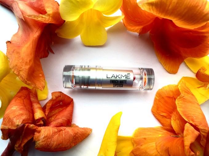 Lakme Enrich Matte Lipstick PM 15 Review Swatch