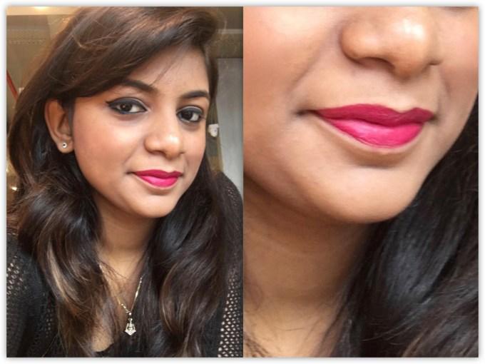 Lakme Enrich Matte Lipstick PM 15 Review Swatches Makeup Look MBF