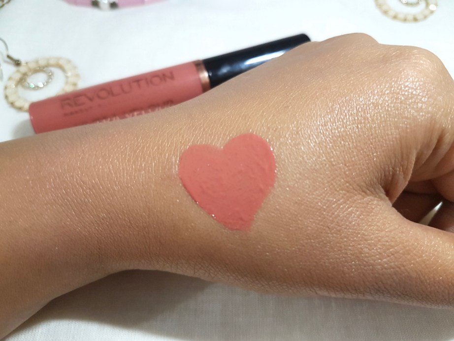 Makeup Revolution Ultra Velour Lip Cream Cant We Just Make Love Review Swatches